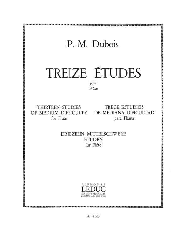 13 Etudes pour flûte - Pierre-Max Dubois - laflutedepan.com