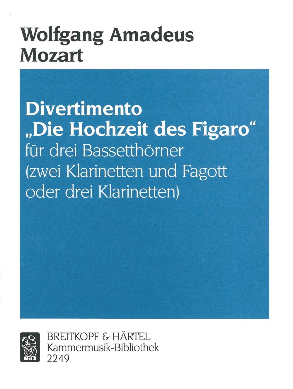 Divertimento Hochzeit des Figaro -3 Bassetthörner 2 Kl. Fag./3Kl. - laflutedepan.com