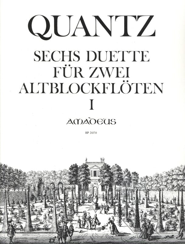 Six Duos pour Flûte à Bec Alto - QUANTZ - laflutedepan.com