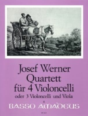 Quartett für 4 Violoncelli op. 6 - Joseph Werner - laflutedepan.com