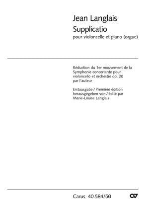 Supplicatio - Jean Langlais - Partition - laflutedepan.com