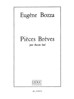Pièces brèves Eugène Bozza Partition Basson - laflutedepan