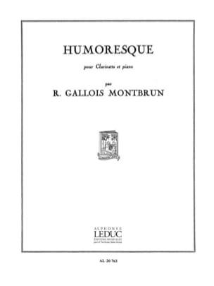 Humoresque Raymond Gallois-Montbrun Partition laflutedepan