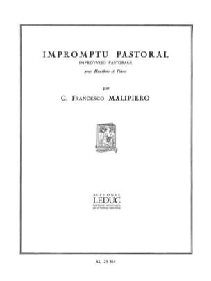 Impromptu pastoral Gian Francesco Malipiero Partition laflutedepan