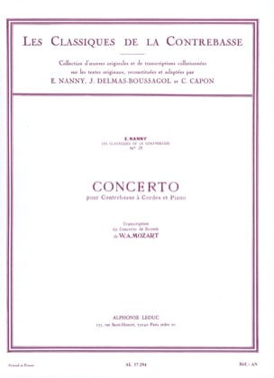 Concerto pour Contrebasse transcrit de celui pour Basson laflutedepan