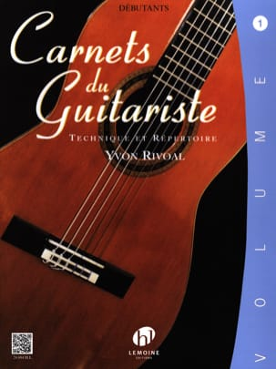 Carnets du Guitariste - Volume 1 Yvon Rivoal Partition laflutedepan