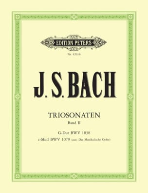 Triosonaten - Bd. 2 : G-Dur BWV 1038 - c-moll BWV 1079 laflutedepan