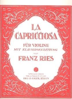 La Capricciosa Franz Ries Partition Violon - laflutedepan