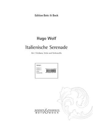 Italienische Serenade Hugo Wolf Partition Quatuors - laflutedepan