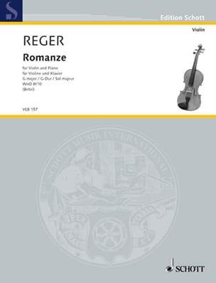 Romance en Sol Majeur W0o2/10 - Violon Max Reger laflutedepan