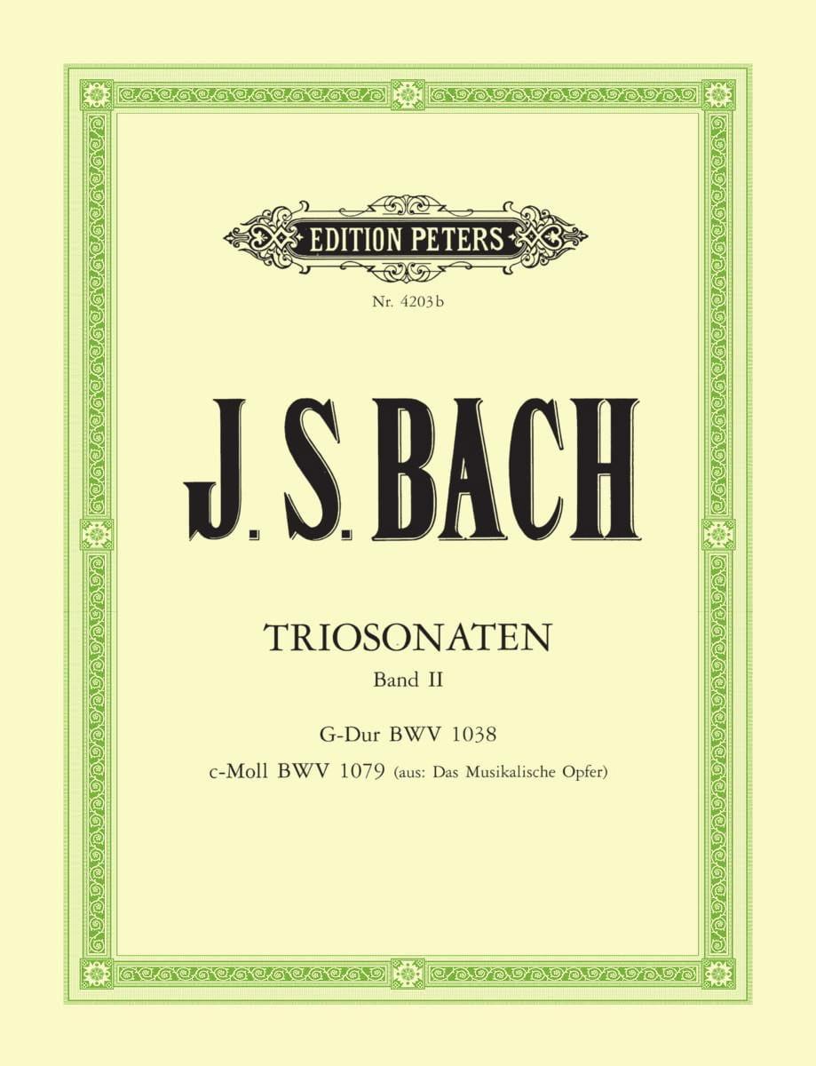 Triosonaten - Bd. 2 : G-Dur BWV 1038 - c-moll BWV 1079 - laflutedepan.com