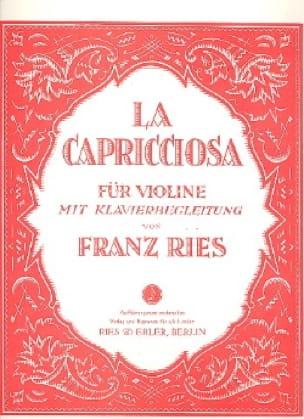 La Capricciosa - Franz Ries - Partition - Violon - laflutedepan.com