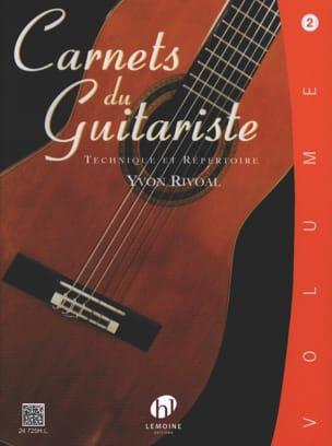 Carnets du Guitariste - Volume 2 Yvon Rivoal Partition laflutedepan