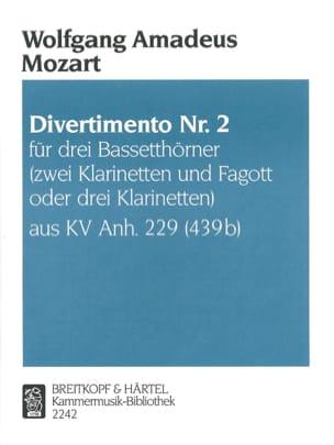 Divertimento Nr. 2 -3 Bassetthörner 2 Klar. Fag. / 3 Klar. laflutedepan