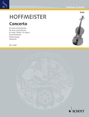Concerto en si bémol majeur HOFFMEISTER Partition Alto - laflutedepan
