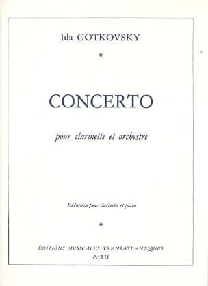 Concerto pour clarinette Ida Gotkovsky Partition laflutedepan