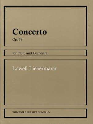 Concerto op. 39 - Flûte piano Lowell Liebermann Partition laflutedepan