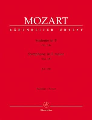 Symphonie Nr.18 F-Dur KV 130 - Partitur - MOZART - laflutedepan.com