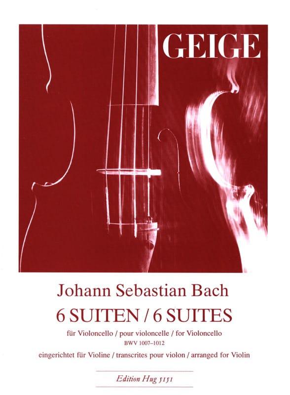 6 Suites BWV 1007-1012 - Violon - BACH - Partition - laflutedepan.com