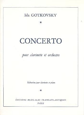 Concerto pour clarinette - Ida Gotkovsky - laflutedepan.com