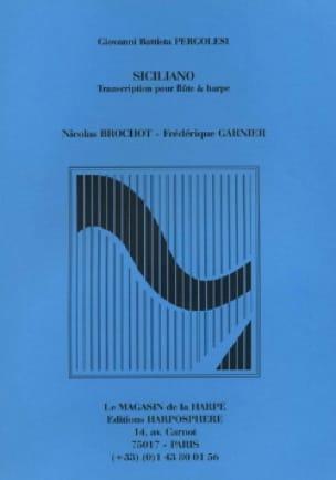 Siciliano - Flûte et harpe - PERGOLESE - Partition - laflutedepan.com
