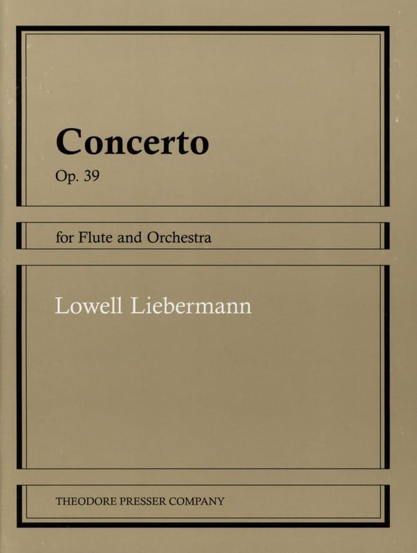 Concerto op. 39 - Flûte piano - Lowell Liebermann - laflutedepan.com