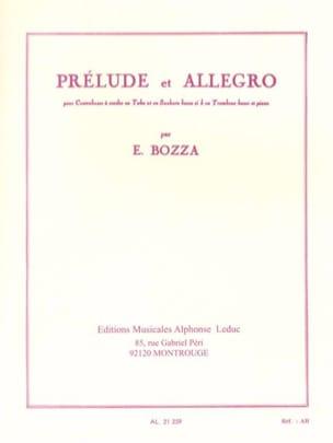 Prélude et Allegro Eugène Bozza Partition Contrebasse - laflutedepan