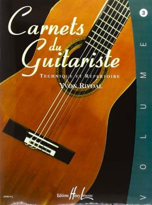 Carnets du Guitariste - Volume 3 Yvon Rivoal Partition laflutedepan