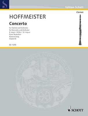 Concerto en Sib Majeur HOFFMEISTER Partition Clarinette - laflutedepan