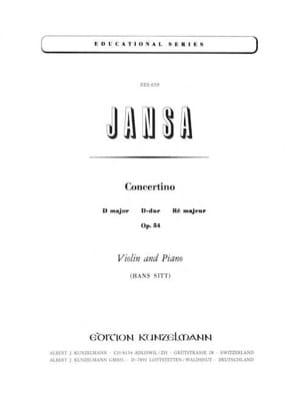 Concertino ré majeur op. 54 Leopold Jansa Partition laflutedepan