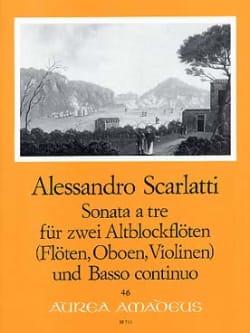 Sonata a tre - 2 Altblockflöten Bc Alessandro Scarlatti laflutedepan