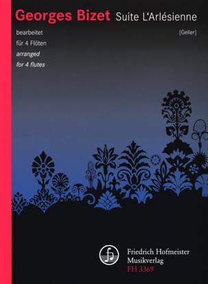 Suite l' Arlésienne - 4 Flûtes BIZET Partition laflutedepan