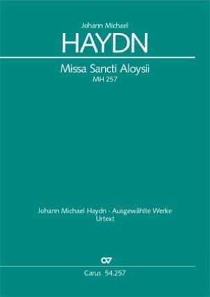 Missa Sancti Aloysii MH257 Michael HAYDN Partition laflutedepan