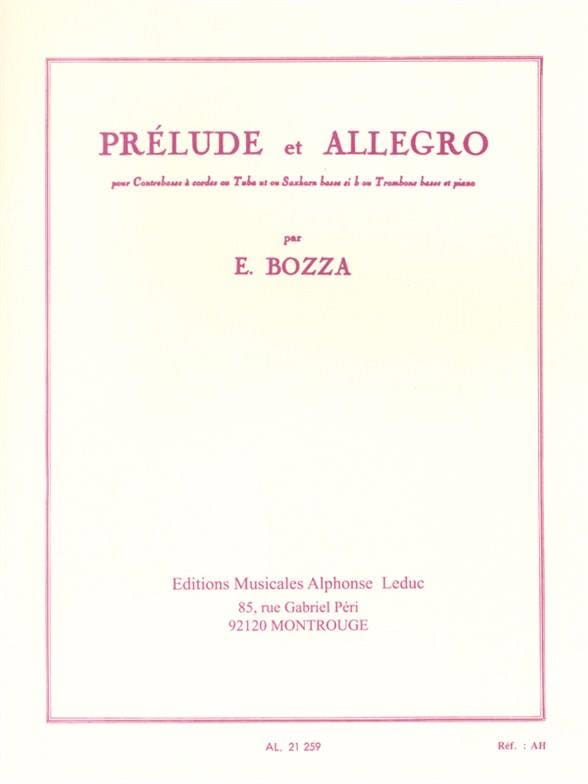 Prélude et Allegro - Eugène Bozza - Partition - laflutedepan.com