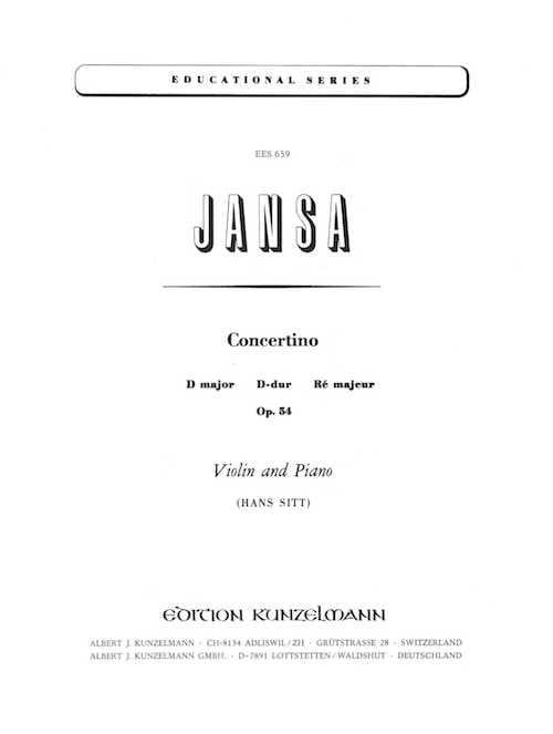 Concertino ré majeur op. 54 - Leopold Jansa - laflutedepan.com