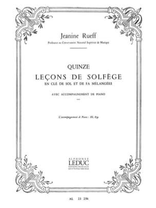 15 Lecons de solfège - Accomp. Jeanine Rueff Partition laflutedepan