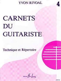 Carnets du Guitariste - Volume 4 Yvon Rivoal Partition laflutedepan