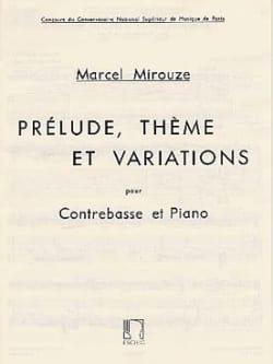 Prélude, thème et variations Marcel Mirouze Partition laflutedepan