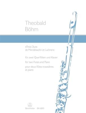 3 Duos de Mendelssohn et Lachner -2 Flöten Klavier laflutedepan