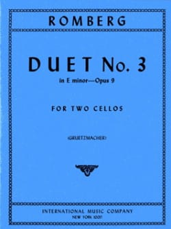 Duo n° 3 op. 9 in E minor ROMBERG Partition Violoncelle - laflutedepan
