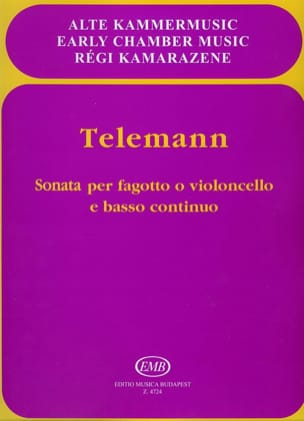 TELEMANN - Sonata for Fagotto o cello e Bc - Partition - di-arezzo.com