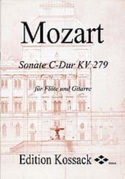 Sonate C-Dur KV 279 - Flöte Gitarre MOZART Partition laflutedepan