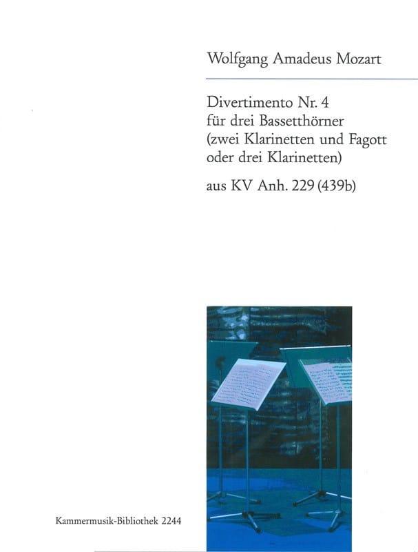Divertimento Nr. 4 -3 Bassetthörner 2 Klar. Fag. / 3 Klar. - laflutedepan.com
