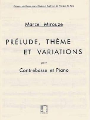 Prélude, thème et variations - Marcel Mirouze - laflutedepan.com