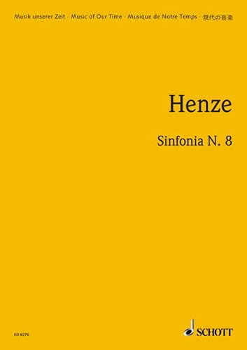 Sinfonia n° 8 - Hans Werner Henze - Partition - laflutedepan.com