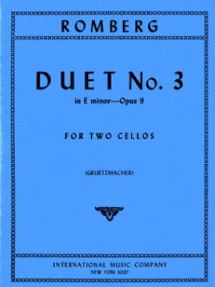 Duo n° 3 op. 9 in E minor - ROMBERG - Partition - laflutedepan.com