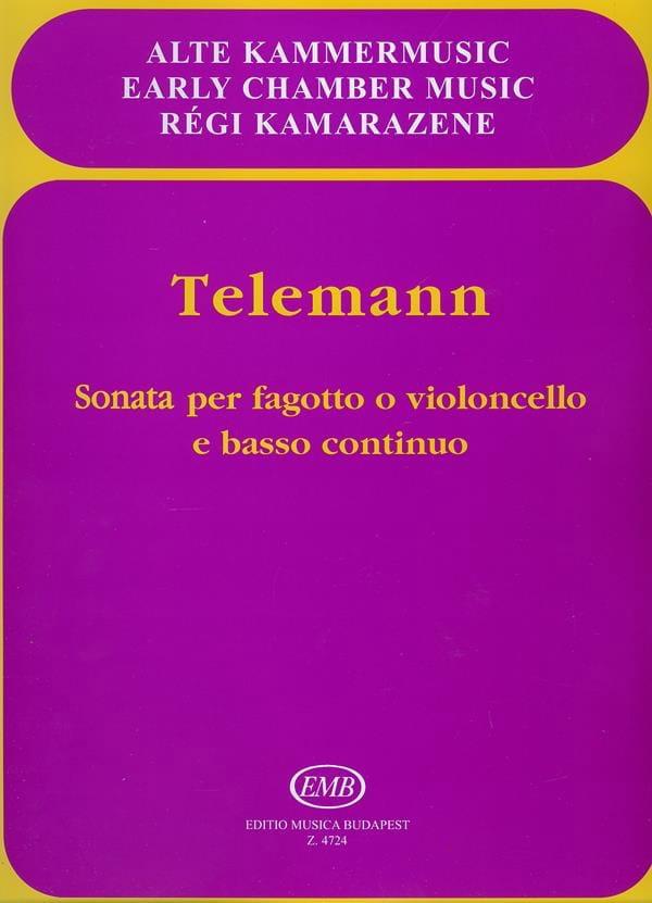 Sonata per Fagotto o cello e Bc - TELEMANN - laflutedepan.com