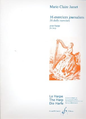 16 Exercices journaliers pour harpe Marie-Claire Jamet laflutedepan