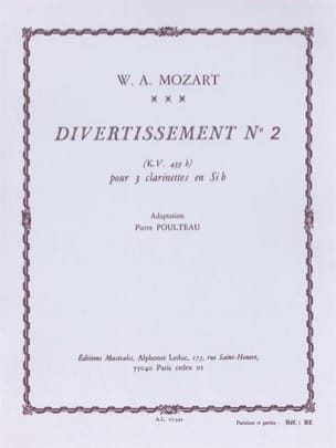Divertissement n° 2 KV 439b - 3 Clarinettes MOZART laflutedepan