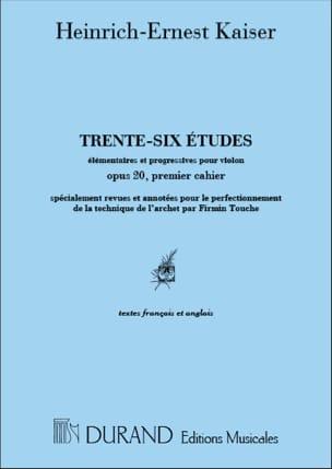 36 Etudes op. 20 - Volume 1 Touche Heinrich Ernst Kayser laflutedepan